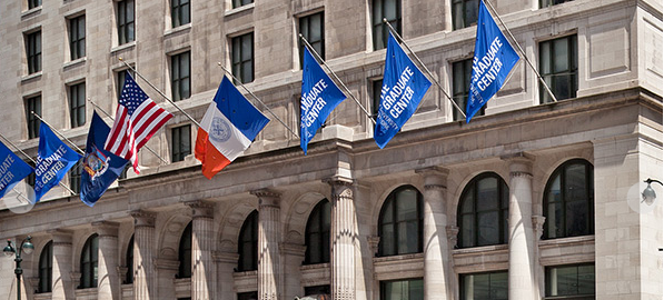 cuny, the gc, the city university of new york, flags