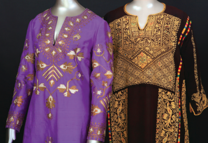 Purple silk caftan with metallic embroidery Helene Arpels, late 20th century Gift of the Estate of Lily Auchincloss Queens College Costume Collection, 216.96.15